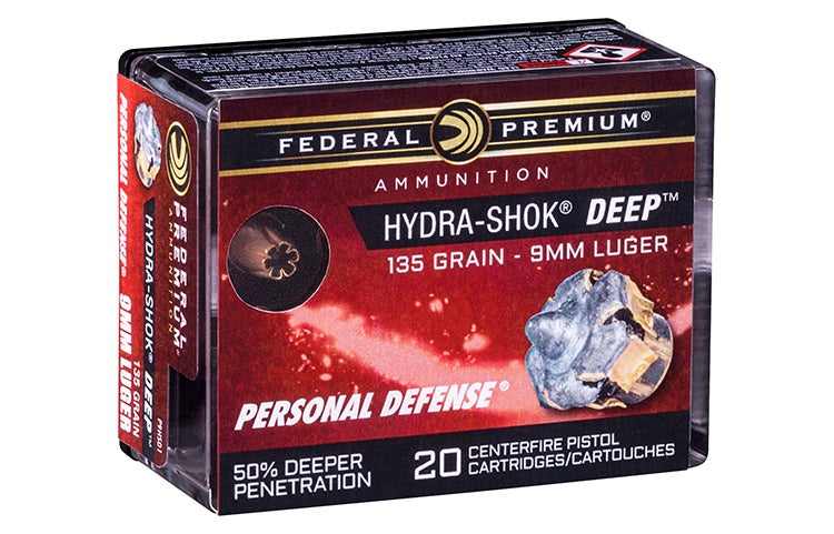 The first Hydra-Shok Deep rounds to hit the market will be 135-grain 9mm loads, with more to follow.