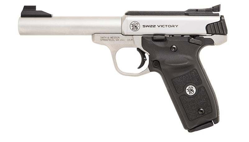 The new SW22 Victory Target Model comes with grips with a thumb rest for left- or right-handed shooters.