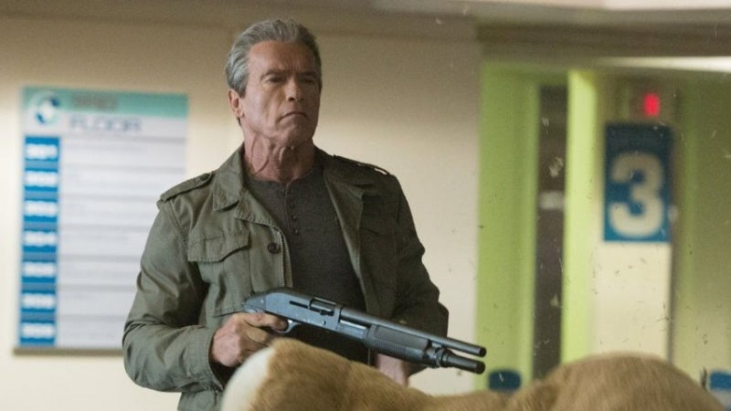 Arnold reprises his role as The Terminator yet again, here using a Benelli M3 Super 90 shotgun.