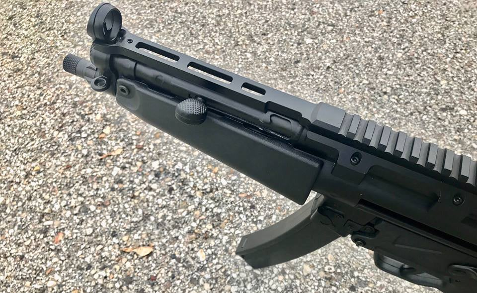 The company's new top rail for MP5-platform firearms.