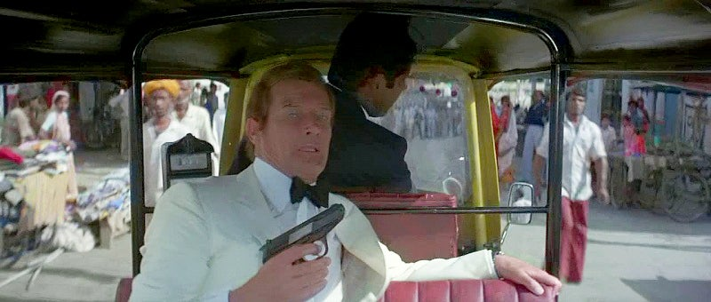 Bond switches to a Walther P5 pistol for this film, just as Connery did in *Never Say Never Again*, released the same year.