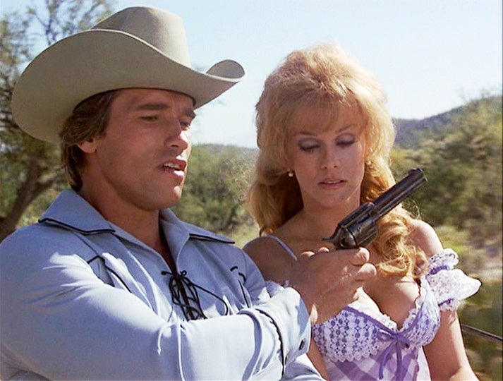 Arnold in *Villain* with a Colt SAA.