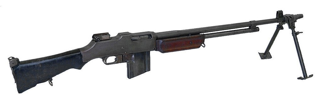 The M1918A2 Browning Automatic Rifle.