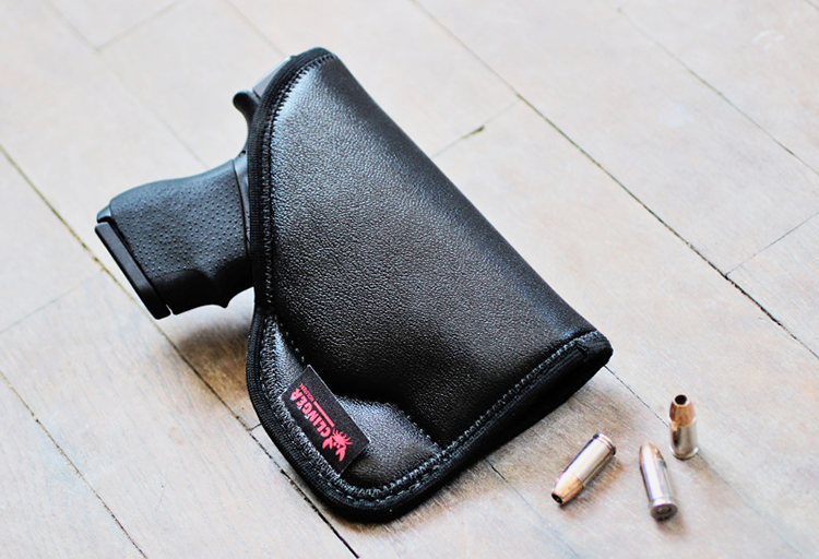 The Clinger Comfort Grip relies on a secret sticky material to keep the holster in your pocket when you draw. It's so tacky that the holster will secure itself inside your waistband too.