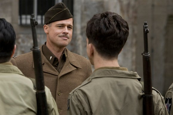 brad pitt in the inglorious basterds