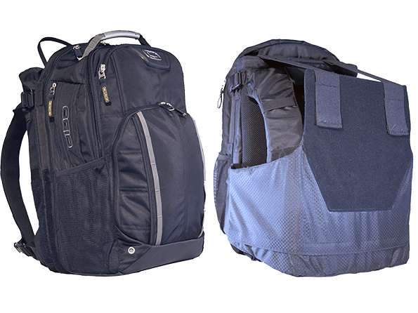 A Backpack With Hidden Body Armor