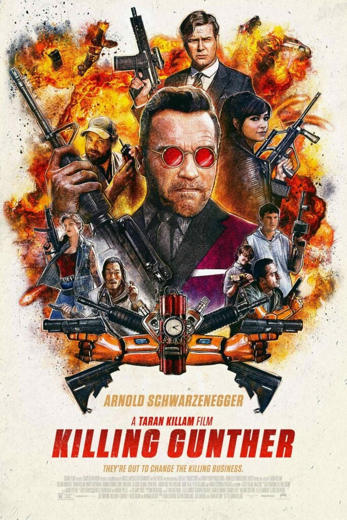 The first poster for *Killing Gunther*.