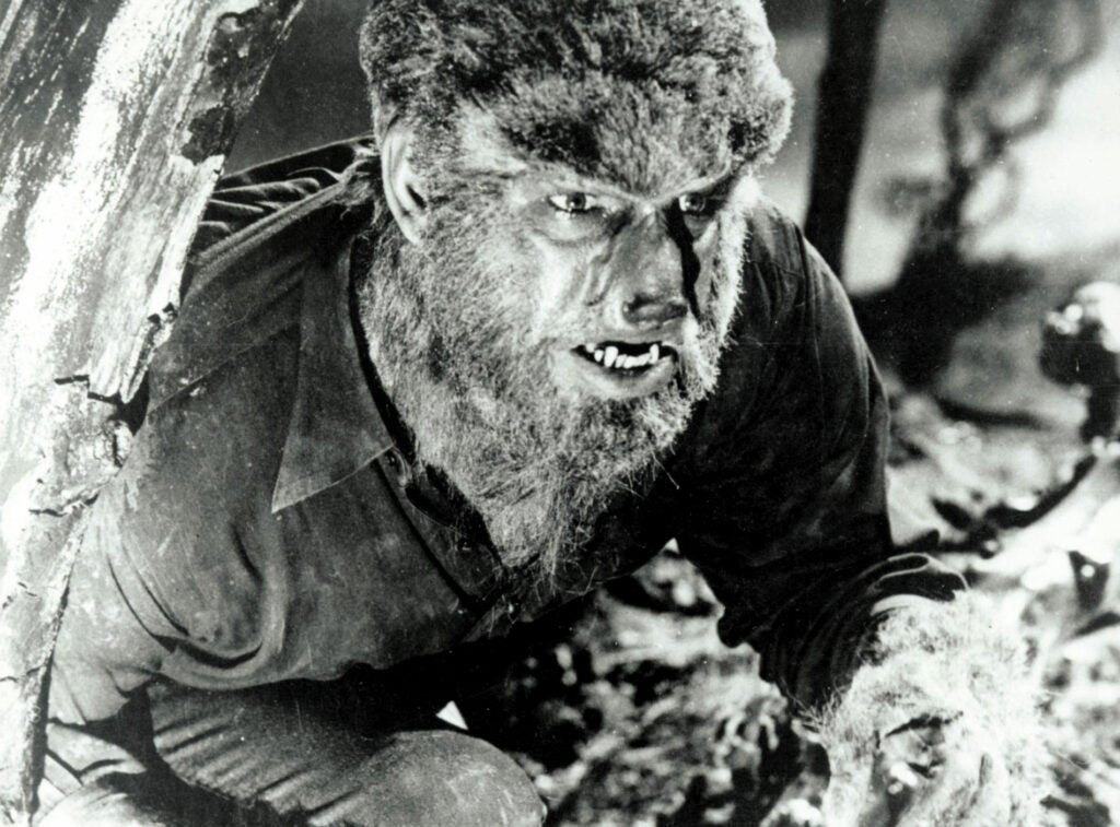 Lon Chaney Jr. as Lawrence Talbot in *The Wolfman* (1941).