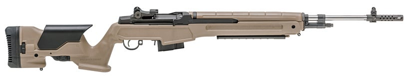 The M1A in 6.5 Creedmoor with Flat Dark Earth Precision adjustable stock.
