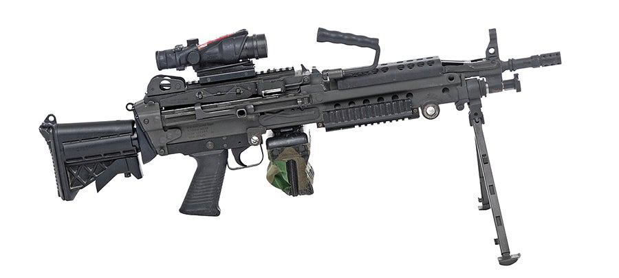 An example of the M249 SAW Paratrooper.