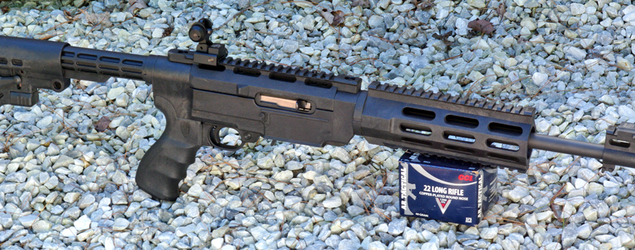 This Ruger 10/22 has a Pro Mag AA556R