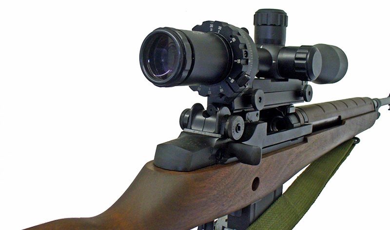Hi-Lux optics makes an updated replica of the famed Leatherwood ART scope. The magnification zoom ring is actually fitted to cam to achieve ranging without hold over. Courtesy Hi-Lux Optics.