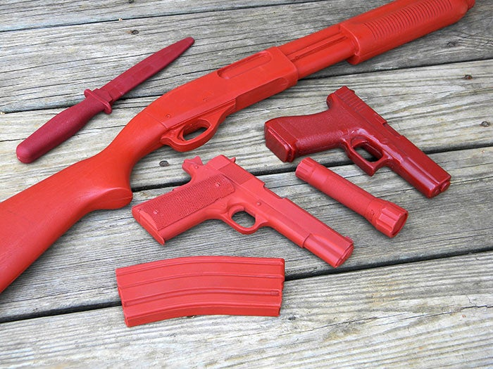 home defense course dummy weapons