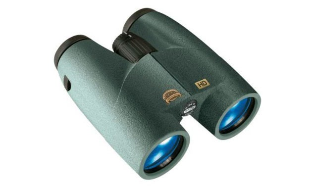Cabela's Instinct Euro HD binoculars are a good choice for the range for distances that don't require a spotting scope.