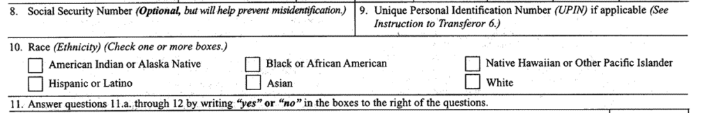 Bill Aimes to Remove Race, Ethnicity Question From Gun Form