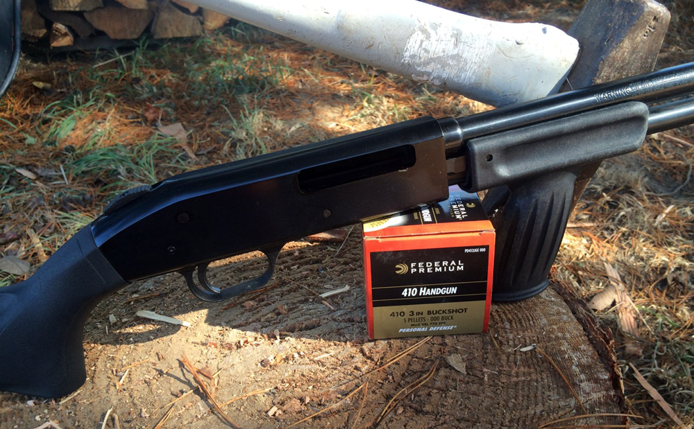 The author conducted his tests with a [Mossberg Model 500 HS410 Home Security shotgun](http://www.mossberg.com/product/500-hs410-home-security-6-shot-50359/).