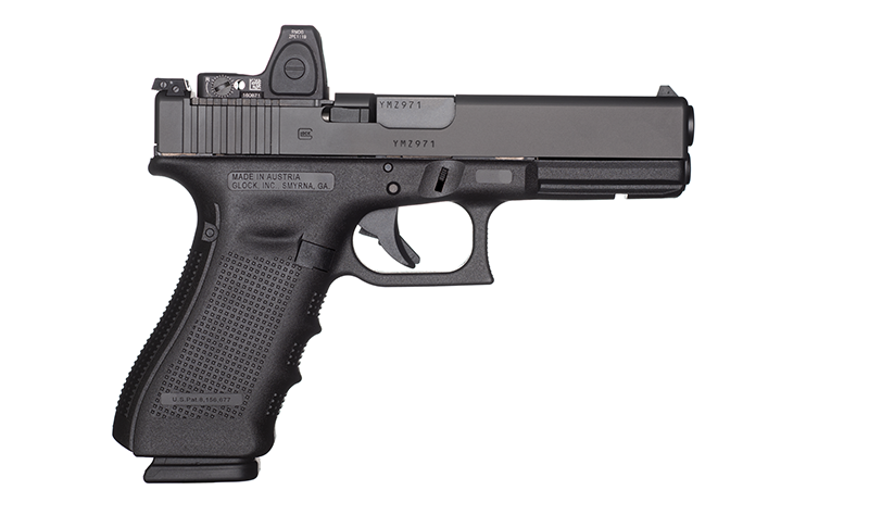 The latter Glock Model, G17 Gen 4 MOS, has the ability to mount a reflex sight.