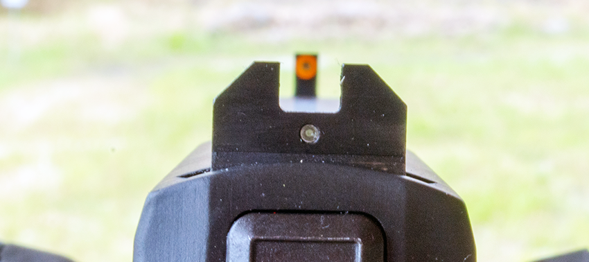 The size and visibility of the large orange dot is a nod to XS Sights' heritage. It jumps into view as you raise the gun.