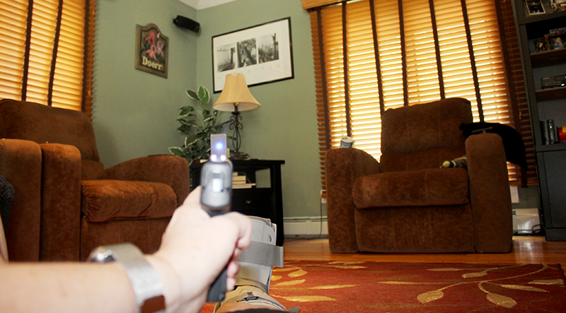 Laser training tools make for great indoor practice, using anything as a target. Of course, triple check to make sure your firearm is unloaded and that there is no ammunition in the room.