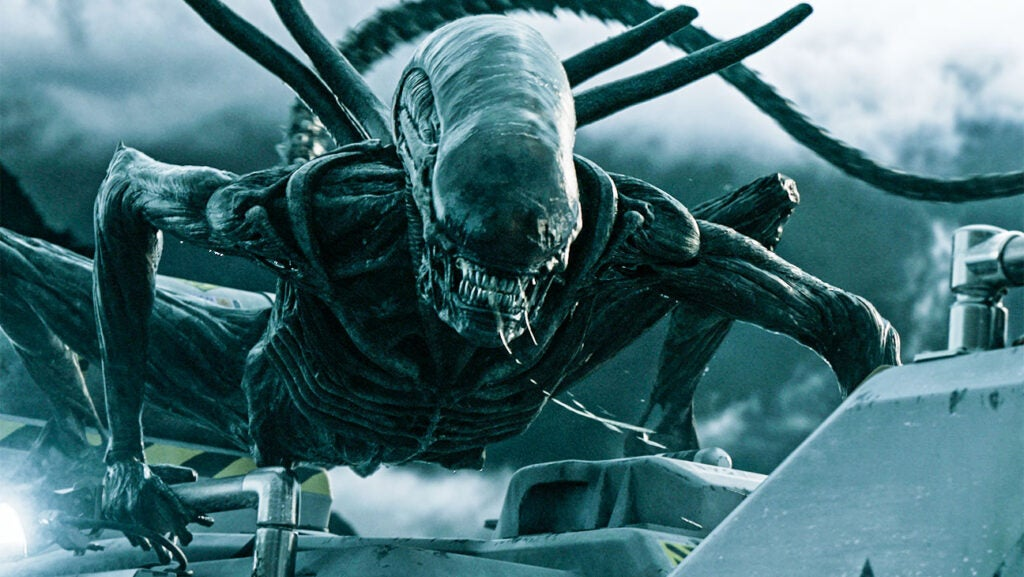 The alien from the film series that originated with Ridley Scott's *Alien* (1979) is still one of the most frightening. The xenomorph recently made a new appearance in *Alien: Covenant*.