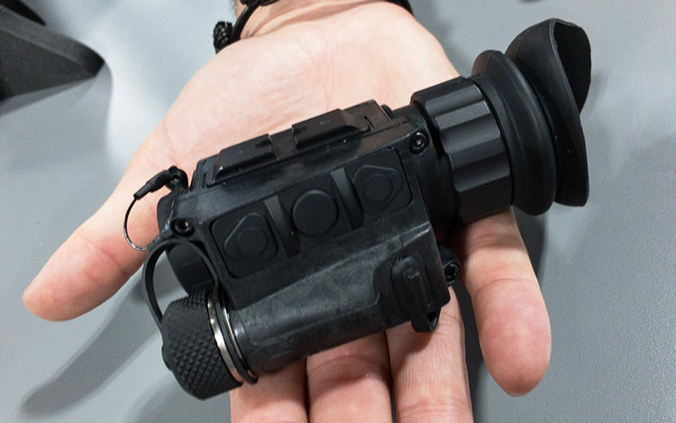 FLIR Breach PTQ136 is designed for hand use, or to be mounted on a helmet.