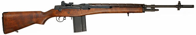 An M14 rifle with a 20-round magazine.