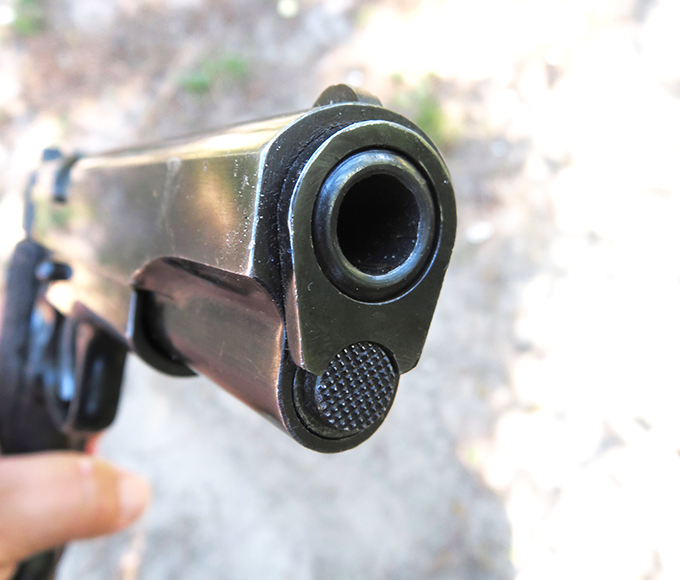 From the business end, the Model B employs a bushing set-up similar to a typical GI 1911.