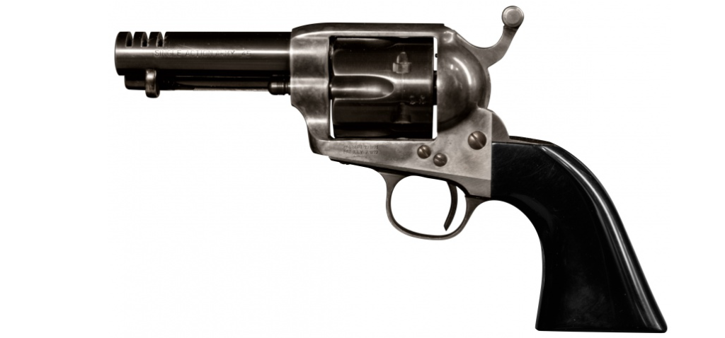 One of the Colt SAA revolvers used in the movie.