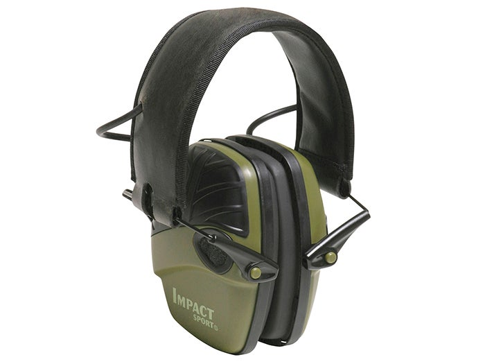 Howard Leight Impact Sport Electronic Ear Muffs are a great and affordable hearing protection option.