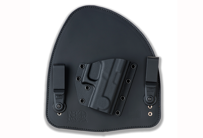 The newest holster from N82 Tactical features a two-clip design that helps draw the gun closer to follow the contour of your body. It also uses a hard Kydex shell for the gun.