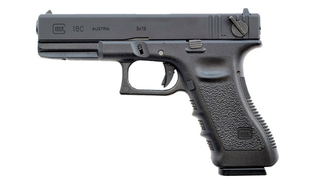 This is a factory-made select fire full auto Glock 18c.