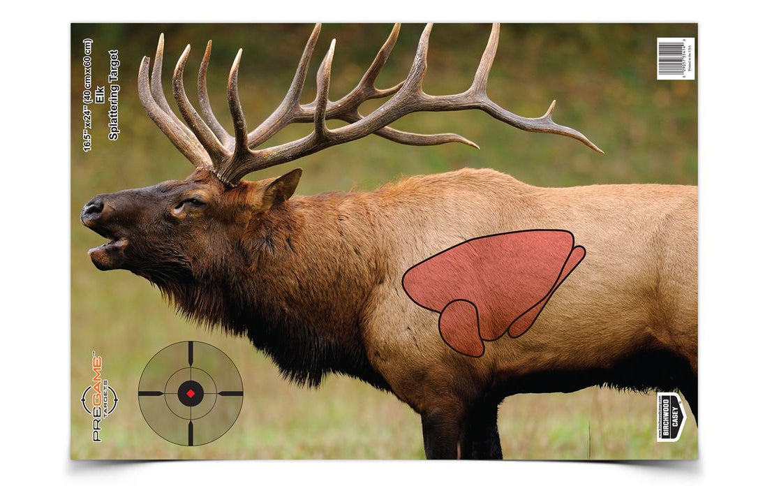 Birchwood Casey's Pregame targets use photos of real animals with their vitals illustrated. The targets are also reactive, so you can see your hits clearly and easily from a distance.
