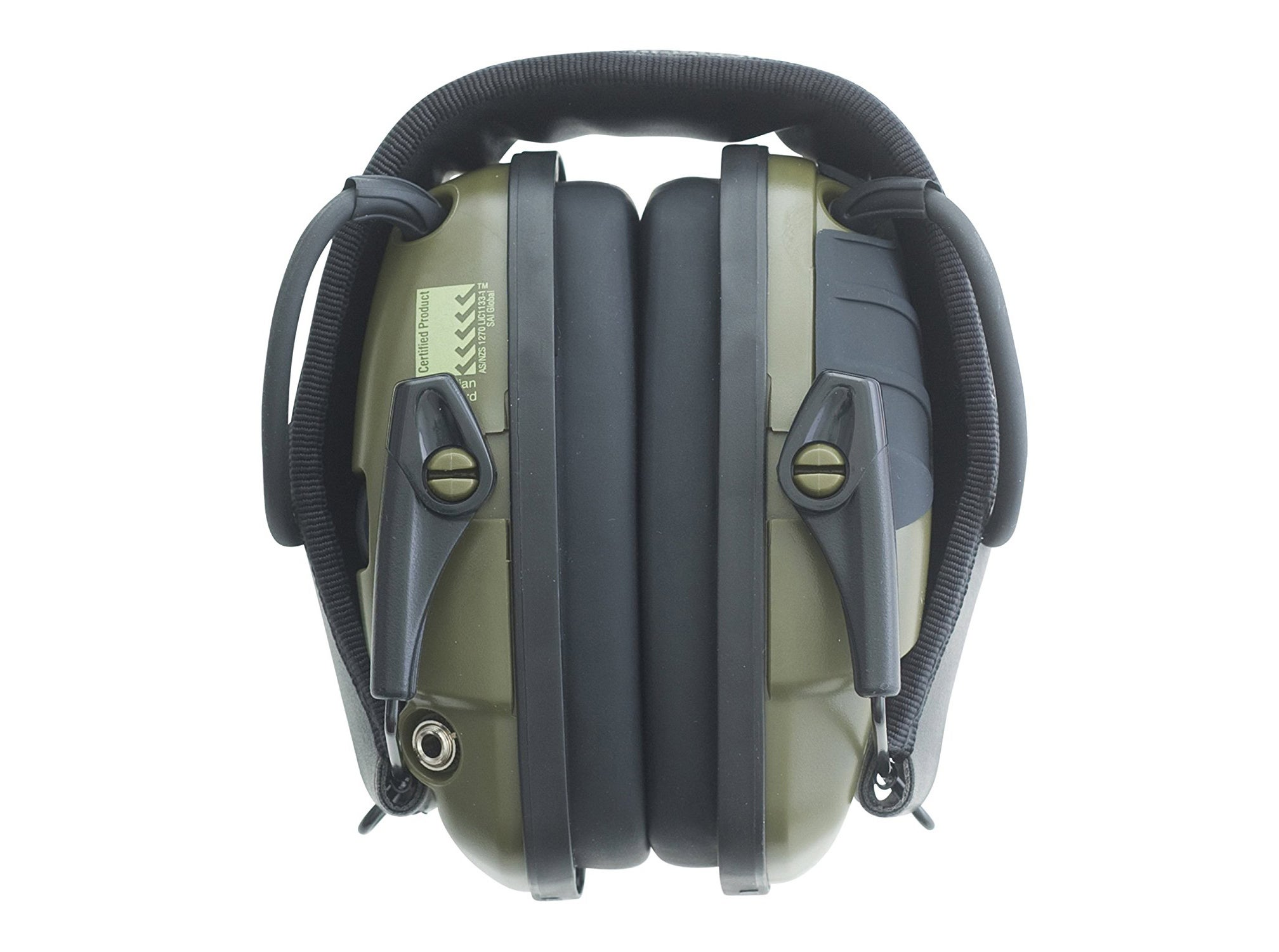 As you can see from these folded Impact Sport earmuffs, the standard pads don't leave much room.