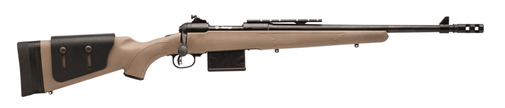 A Savage Model 11 Scout rifle.