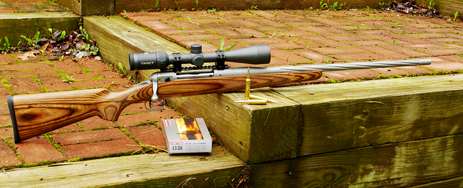 A full shot of the author's E.R. Shaw Mark VII custom rifle in 6.5-284 Norma.