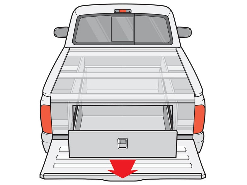how to make a custom truck-bed storage system