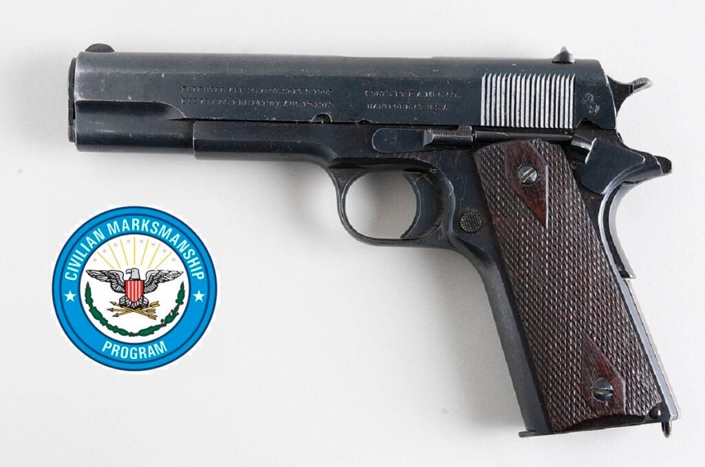 The vintage M1911A1 handguns have been in storage at least since 1985.