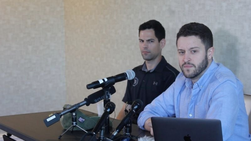 Cody Wilson at what he called the first Defense Distributed press conference held on August 28.