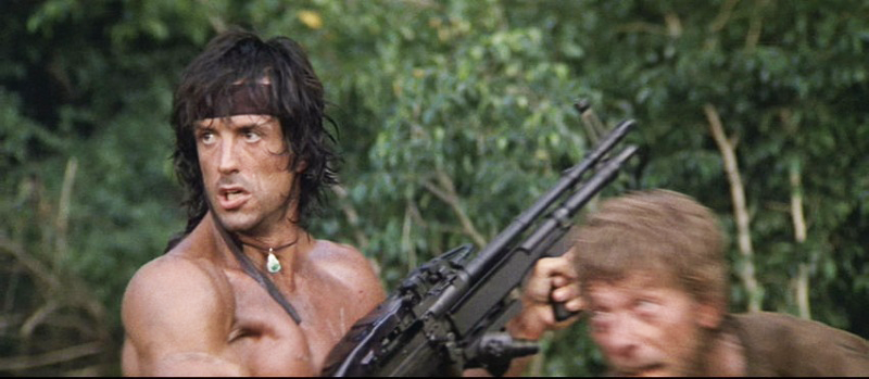 Rambo returns to his signature weapon for the sequel, this time as the shorter and lighter M60E3.