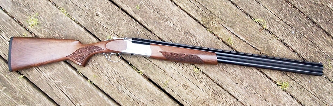 An example of the CZ Sterling double-barrel shotgun.