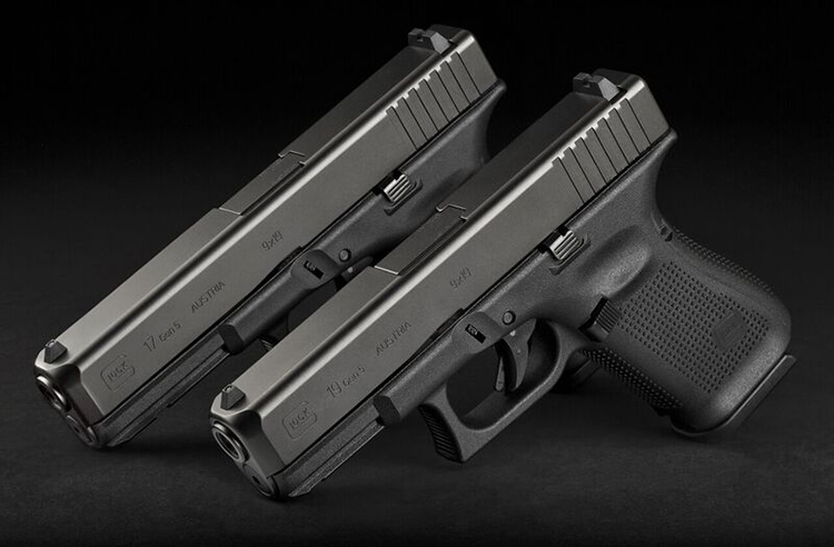The new Gen5 G17 and G19 pistols from Glock.
