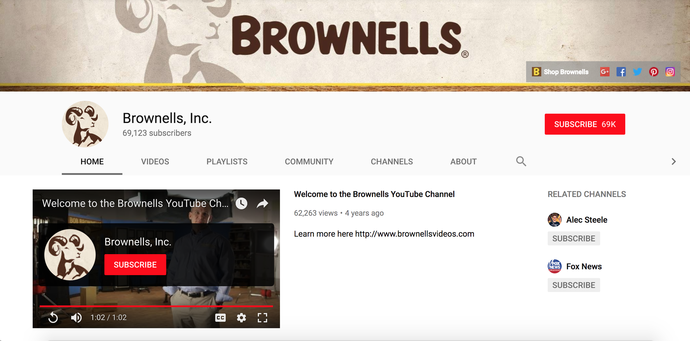 Brownells Youtube Channel Restored