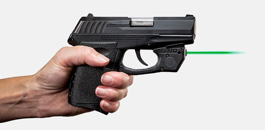 ArmaLaser TR laser sights activate just by gripping the pistol.