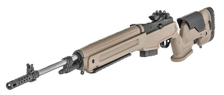 The M1A in 6.5 Creedmoor with a Flat Dark Earth Precision Adjustable stock.
