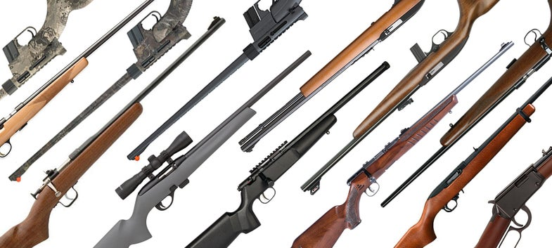 collage of the best .22 hunting rifles