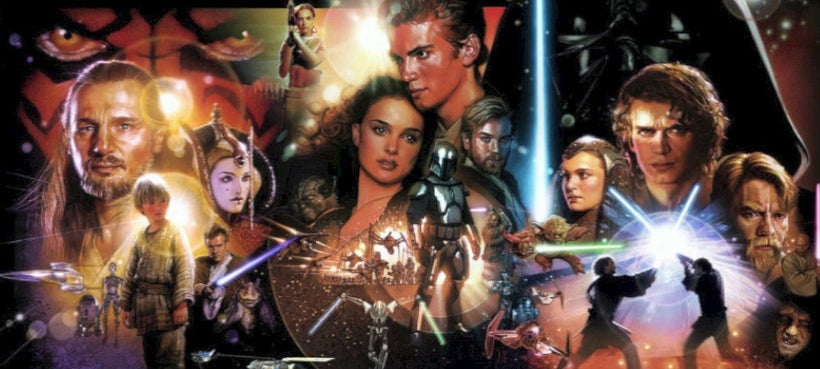 star wars prequel trilogy collage