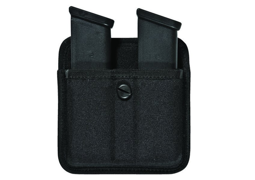 The Bianchi Triple Threat II Double Magazine open top pouch.
