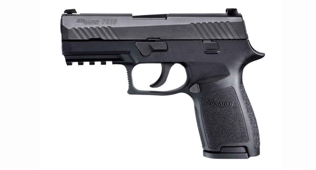 Here's an airsoft version of the SIG Sauer P320