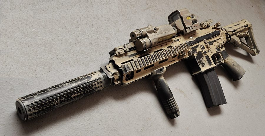 An example of an HK416, fully accessorized.