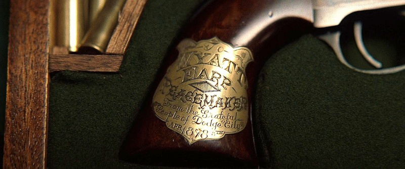 The plaque on the *Tombstone* version of Earp's Buntline Special.